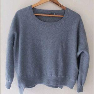 Vince Gray Wool Blend Wide Neck Knit Sweater